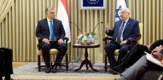 Reuven Rivlin izraeli elnök fogadja Orbán Viktor magyar miniszterelnököt az elnöki rezidencián Jeruzsálemben 2018. július 19-én - fotó: Koszticsák Szilárd / MTI