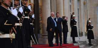 Rivlin es Macron elnok Elysee-palota