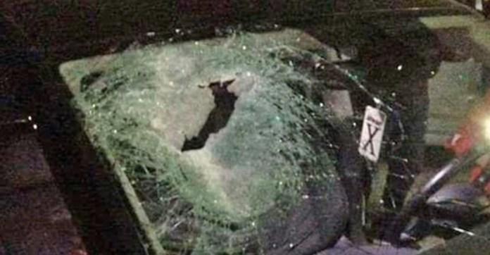 a palesztin aldozat autoja