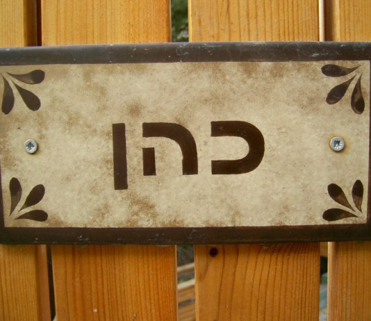 cohen izraeli vezeteknev csaladnev