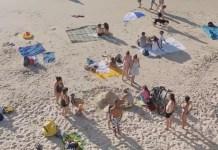izraeli tengerpart emberek tel-aviv homok naplemente