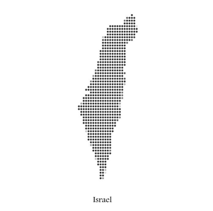 izrael terkep pontokbol