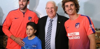 reuven rivlin izraeli elnok atletico madrid focistak