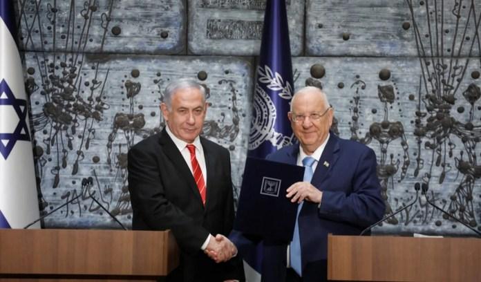 Benjamin Netanjahu és Reuven Rivlin - fotó: Amos Ben Gershom / GPO
