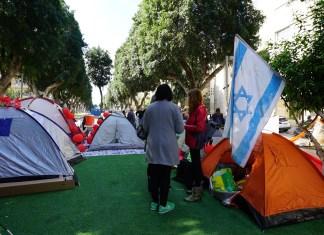 Tiltakozás a Rothschild sugárúton Tel-Avivban - fotó: Stanislavskyi / Shutterstock