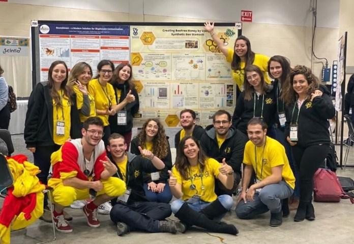 Az izraeli diákok Bostonban, ahol fejlesztésükkel elnyerték a nemzetközi IGEM verseny aranyérmét - fotó: Technion