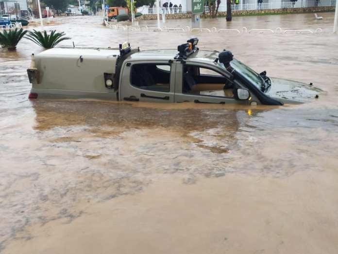 Nahariát elöntötte a víz - fotó: Dror Farkash / Facebook