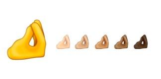 """Az """"összefogott ujjak"""" hangulatjelek, ahogyan az Emojipedia a közösségi médiában megosztotta, 2020. január 29. - fotó: Twitter képernyőkép"""