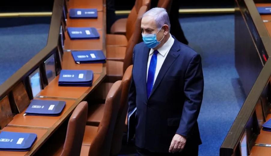 Benjamin Netanjahu a kneszetben, ötödik kormányának eskütételén - fotó: Adina Wallman / a kneszet szóvivője