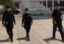 A rendőrök érvényesítik a koronakorlátozásokat - fotó: Rendőrségi szóvivő