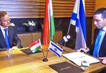 Szíjjártó Péter magyarországi külügyminiszter interjút ad Somfalvi Attilának a ynet-től