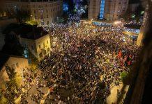 Tüntetés Jeruzsálemben, 2020. augusztus - fotó: Izraelinfo