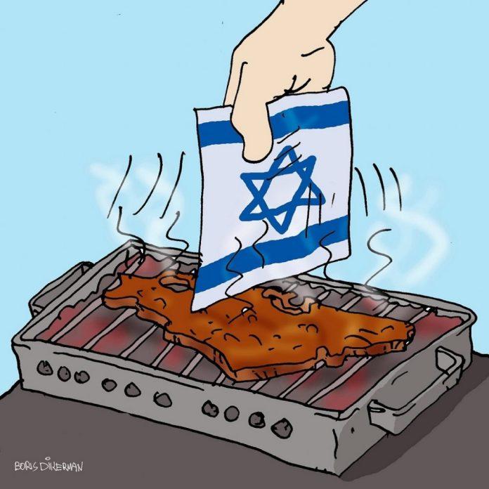 izrael a grillen zaszloval