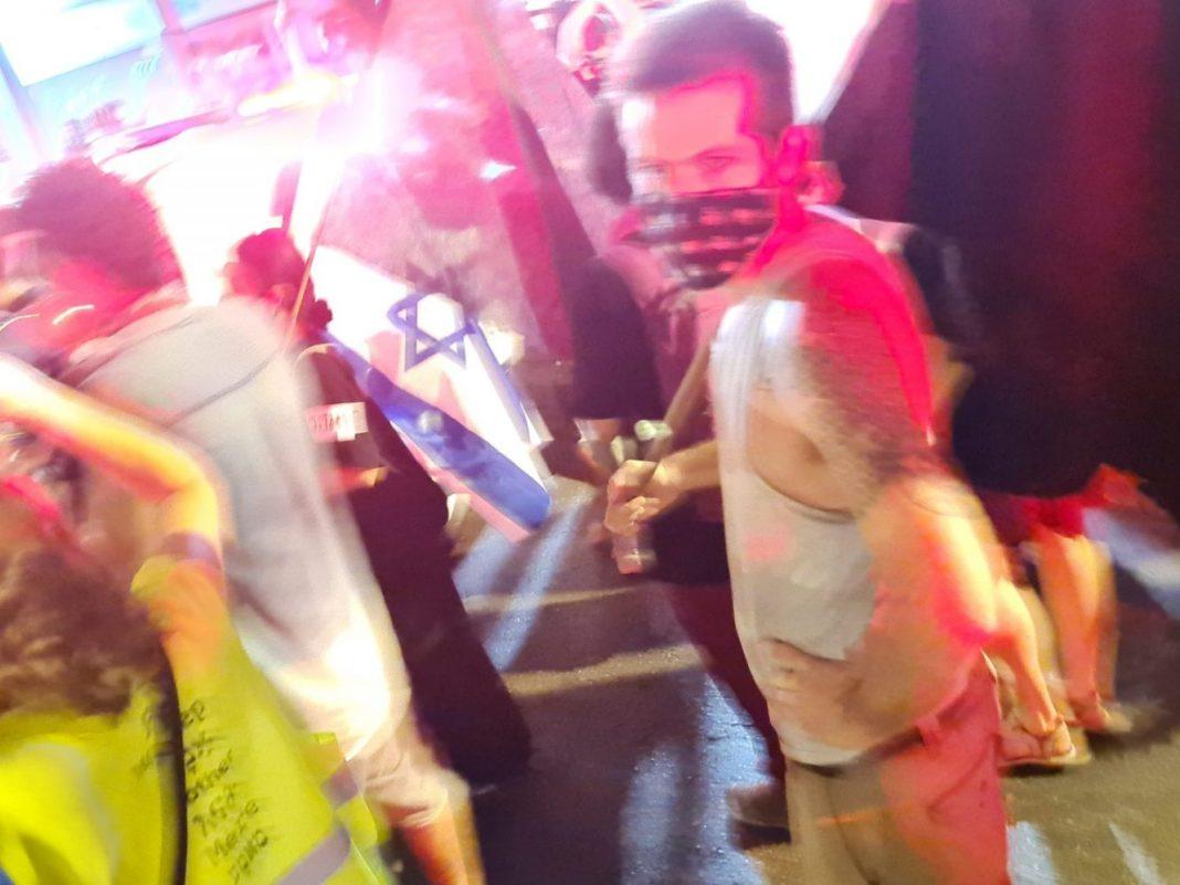 Tüntetés Tel-Avivban, 2020. szeptember 30. - fotó: Fenyves Gabriella / Izraelinfo