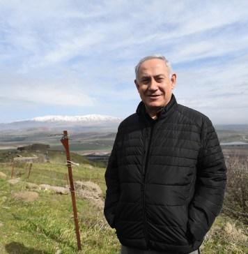 Benjamin Netanjahu miniszterelnök meglátogatja az IDF állását az Avital-hegyen a Golan-fennsíkon, 2018 - fotó: Kobi Gideon / GPO