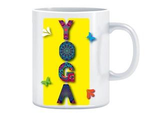 Yoga - dizajnerska šalica (iz serije Afirmacije i motivacije)