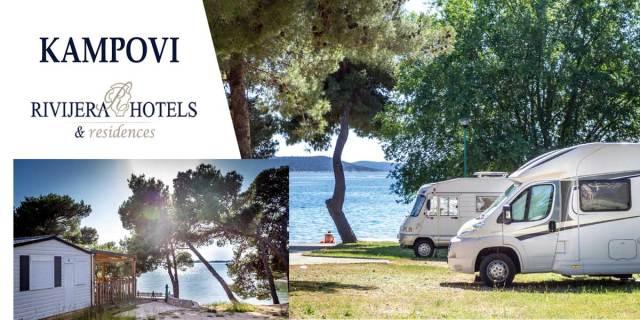 Rivijera hoteli i kampovi u popularnim turističkim destinacijama šibenske Rivijere - Vodicama, Šibeniku i Pirovcu, kristalno čisto more i plaže, netaknuta priroda, ostaci srednjovjekovnih gradova, autentična ribarska sela, izleti u Nacionalne parkove, bogata turistička ponuda i noćni život, odlična odredišta za organizaciju kongresa, seminara i team building programa, blaga klima, šljunčane plaže i toplo more, prirodno kupalište s ljekovitim blatom, Rivijera hotel Jadran u centru Šibenika, idealno mjesto za poslovne domjenke, proslave, poslovne sastanke i seminare, Hotel Miran u Pirovcu, idealan odmor za obitelj bez stresa, Rivijera hoteli Imperial, Flora i Madera u Vodicama - top destinaciji na hrvatskom Jadranu, idealan odmor uz bogatstvo sportskih, rekreacijskih i zabavnih sadržaja, Smještaj u Villama i kampovima Rivijera: Imperial u Vodicama i Miran u Pirovcu, u blizini Parka prirode Vransko jezero i Nacionalnih parkova Krka i Kornati