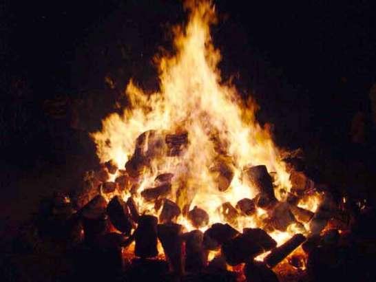 東大寺境内にはかがり火も!