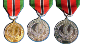 Chaconia Medals Gold Silver and Bronze for Long and Meritorius Service