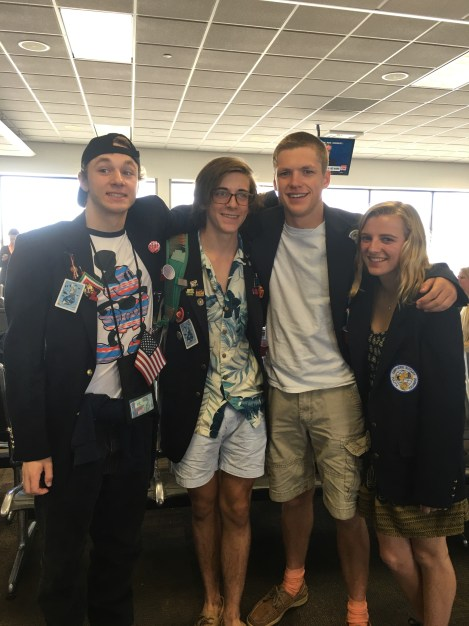 The four Musketeers off to France! Trent to Sete Jack to Ussel Nathan to Lyon and Me to Mouans-Sartoux!