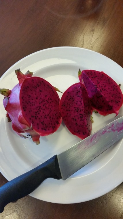 Also picked up some dragon fruit when we went grocery shopping :)
