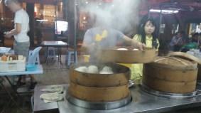 Giant dumplings on Jalan Alor
