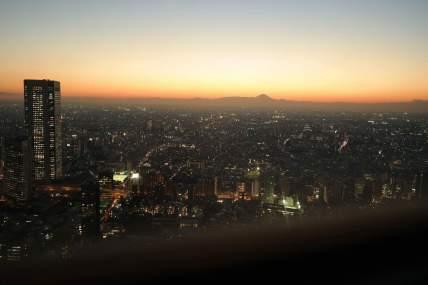 View at metropolitan...incl Mt Fuji! this one's Frances' photo