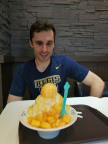 Mango ice - with human Hayden for scale