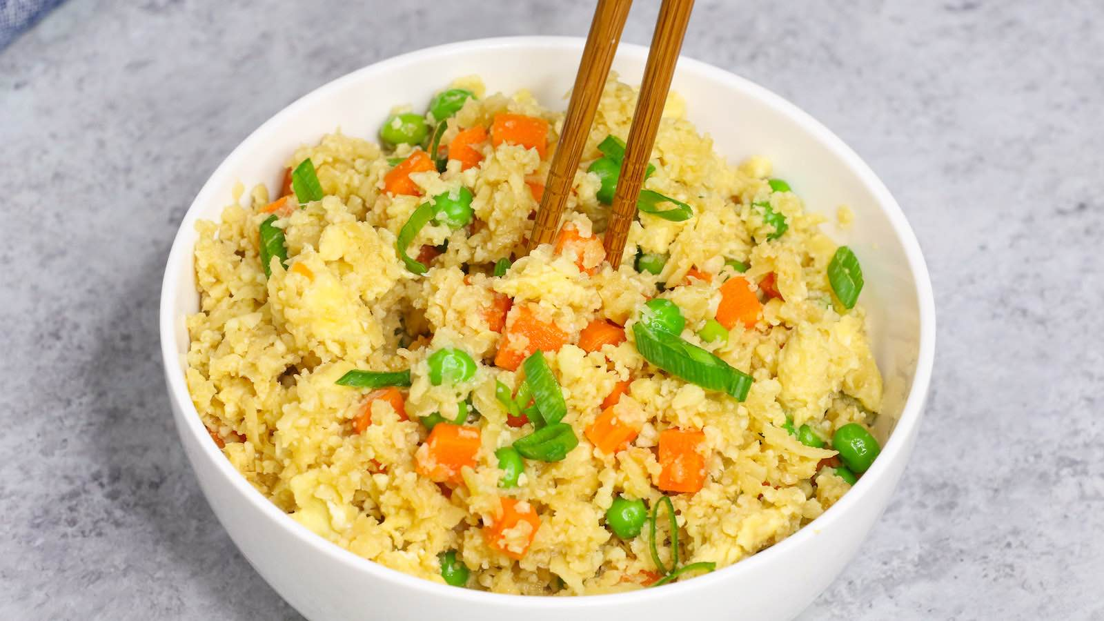 easy microwave cauliflower rice recipe