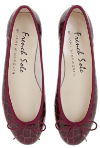 French Sole patent pumps