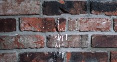 Paint on brick by eating area