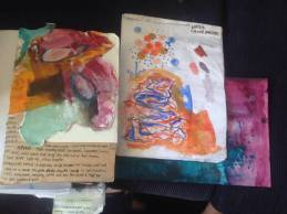 Watercolor and acrylic vingettes inspired by sound, music, crowds and journeys to an Atea