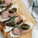 Duck Confit Crostini With Parsnip Puree And Fig
