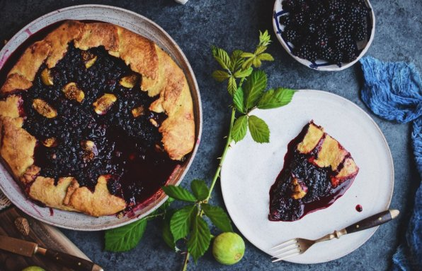 Late Summer Berry And Fig Galette