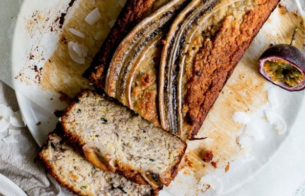 Banana, Passionfruit And Coconut Loaf