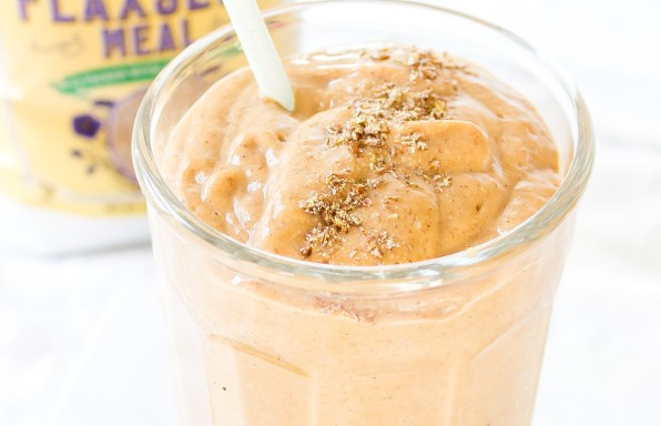 Pumpkin Spice Flaxseed Smoothie
