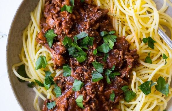 Red Wine Bolognese With Mushrooms 2 2