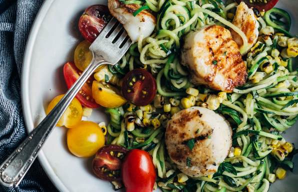 Grilled Scallops Over Zucchini Noodles67