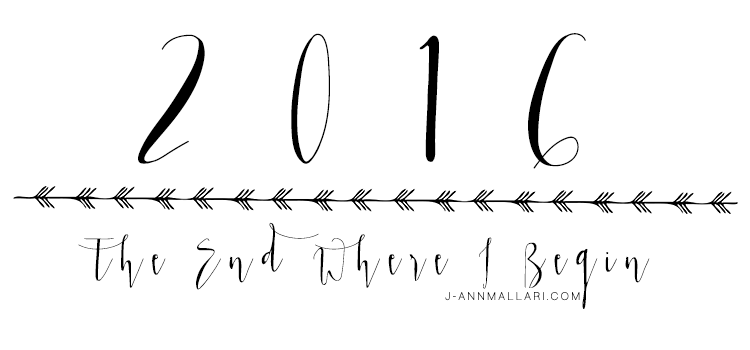 The End Where I Begin: 2016