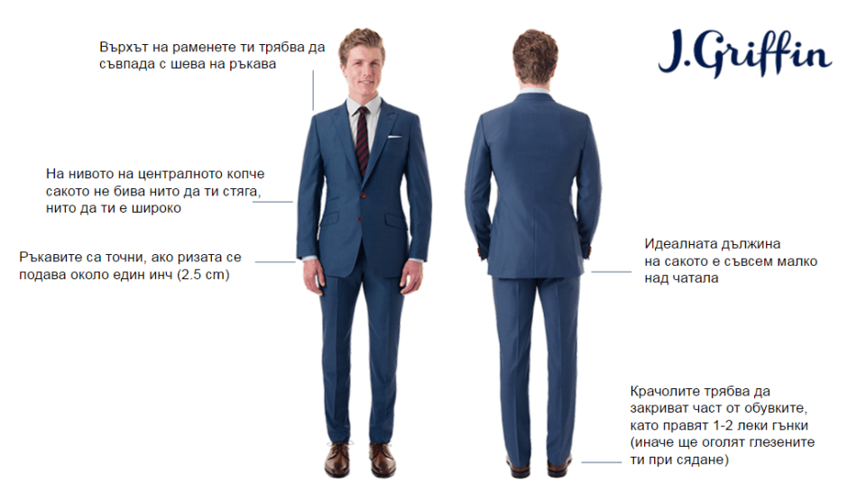 j.griffin suit length