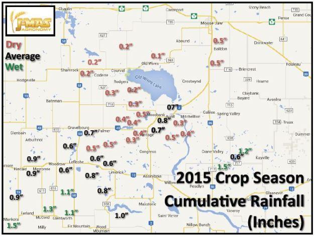 Cumulative 2015 Rain to June 12