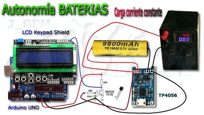 Sistema de medida: Capacidad real de una batería