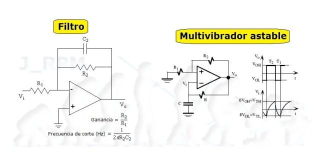 Filtro y oscilador, con amplificador operacional
