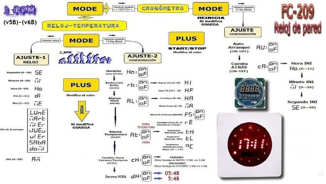 Configuración del Reloj LED (v5B-v6B)