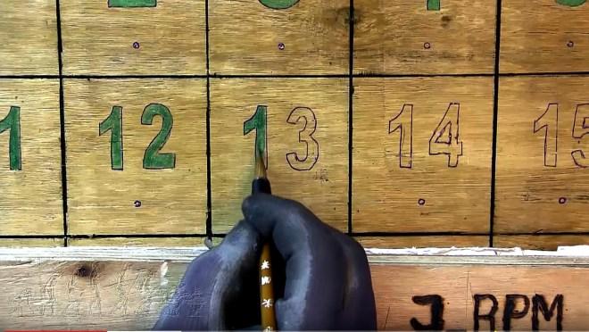 Pintar números