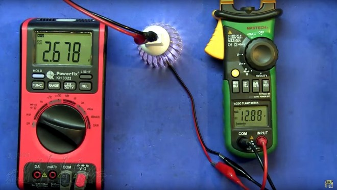 Tensión de encendido del foco LED