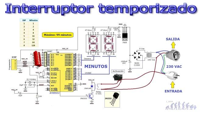 Esquema: Interruptor temporizado