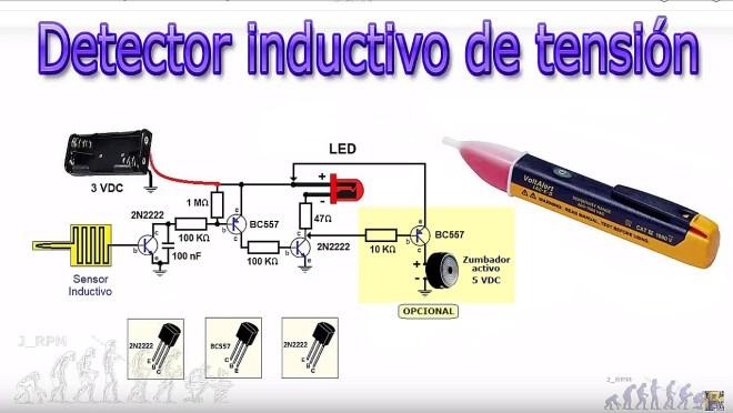 Esquema: Detector inductivo de tensión