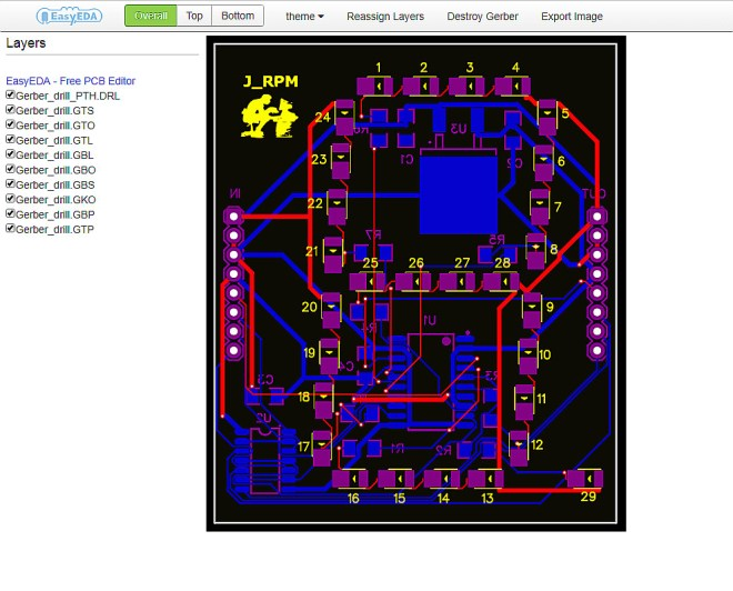 PCB: Display 7 segmentos serie
