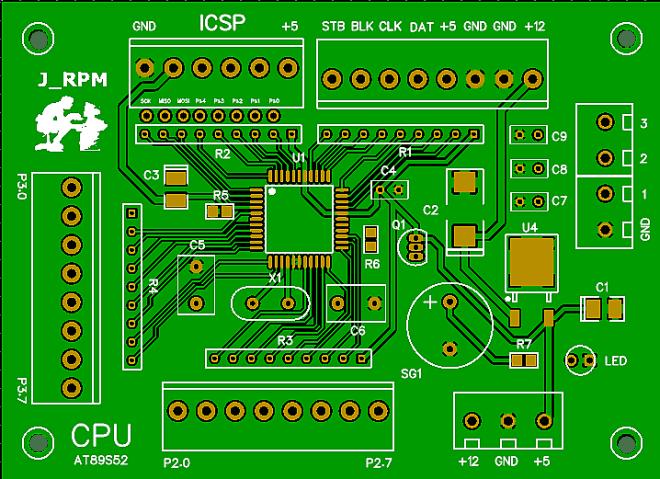 PCB: CPU del Reloj SERIE
